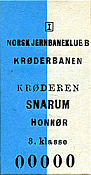Kroderbanen Snarum Honnor s